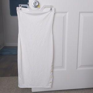 White tube top dress